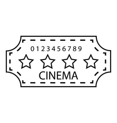 Cinema emblem icon outline style vector