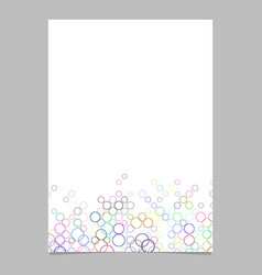 Circle pattern brochure background template vector