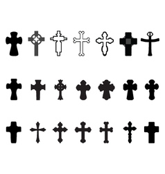 crosses 2 vector image