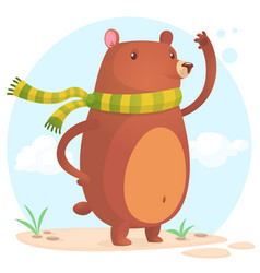 cute cartoon bear character vector image
