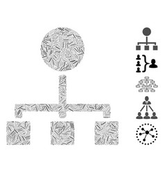 Dash mosaic hierarchy icon vector