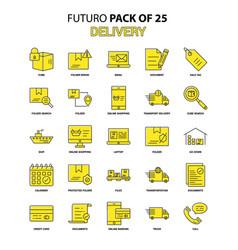 Delivery icon set yellow futuro latest design vector