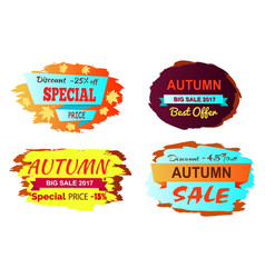 Discount 25 off special price vector