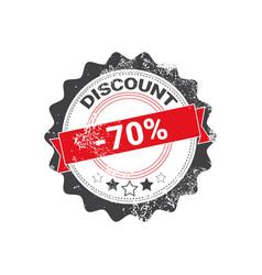 discount stamp grunge sale sticker design shopping vector image