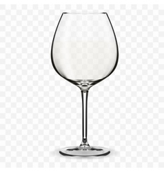 Empty wine glass vector