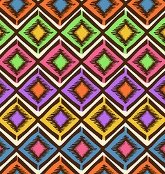 Ethnic tribal geometric seamless pattern vector image