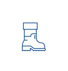 farmer boots line icon concept farmer boots flat vector image