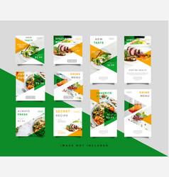 food social media post intagram stories template vector image