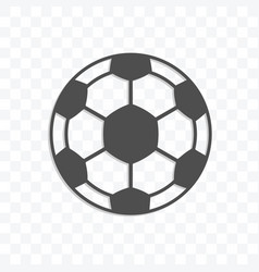 football ball icon isolated on transparent vector image