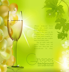 glass of champagne vector image
