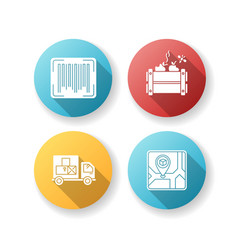 Goods availability and quality control flat vector