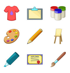 graphic project icons set cartoon style vector image