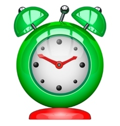 Green alarm clock vector
