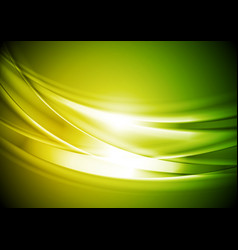 green yellow blurred abstract waves background vector image