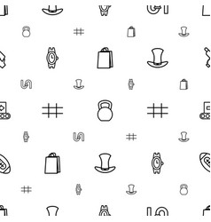 Grey icons pattern seamless white background vector