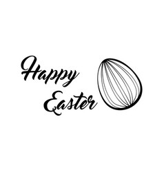 happy easter lettering easter egg vector image