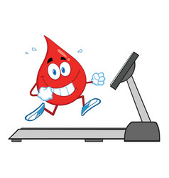 Healthy blood drop cartoon character vector
