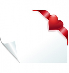 heart page vector image vector image