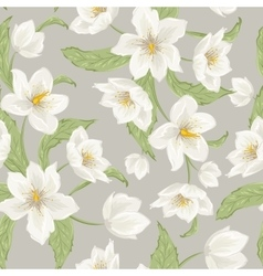 Hellebore flowers Christmas rose seamless pattern vector image