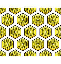 hexagonal element pattern vector image