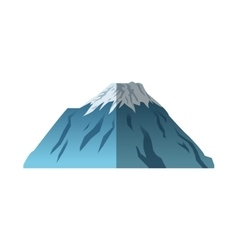 Isolated mountain of china design vector image