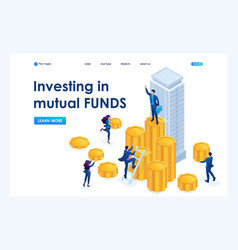 Isometric businessmen investment money vector