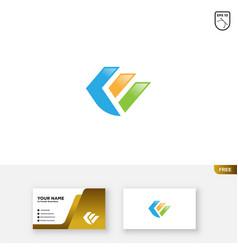 Letter k financial logo design and business card vector