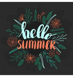 Lettering summer quote vector