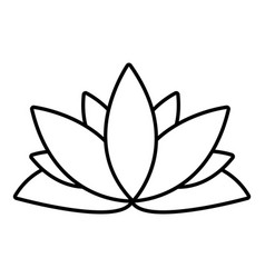 Lotus flower icon outline style royalty free vector image mightylinksfo Gallery