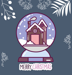 merry christmas celebration gingerbread house vector image