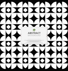 modern of black and white pattern of geometric vector image