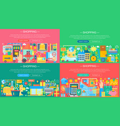 online shopping and e-commerce concepts collection vector image