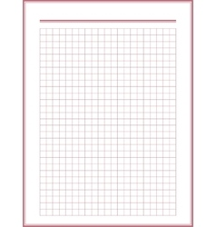 Paper sheet with red squares vector