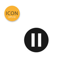Pause icon isolated flat style vector