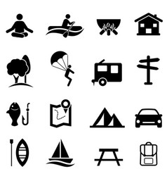 Recreation activities and leisure icons vector