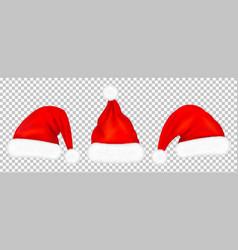 Santa claus red hats vector