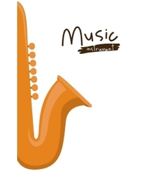 saxophone instrument isolated icon design vector image