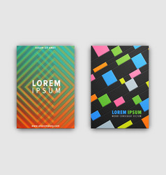 set of two cover patterns on vector image