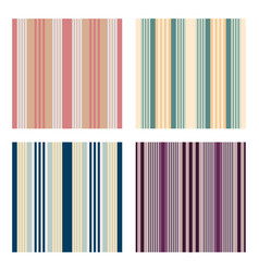 set of vertical stripes seamless print vector image