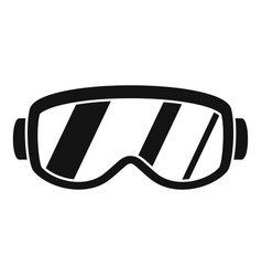 ski glasses icon simple style vector image