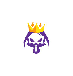 Skull king logo vector