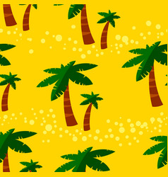 summer seamless pattern with palms background vector image