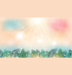 summer season time on beach with sunshine day vector image