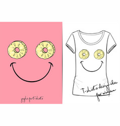 t-shirt of positive smiley vector image
