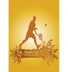 tennis poster2 vector image