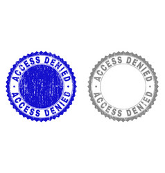 Textured access denied scratched watermarks with vector