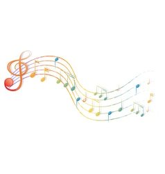 The musical notes and the G-clef vector image vector image