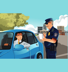 Traffic violation vector