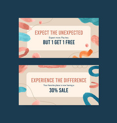 twitter template with shopping design vector image