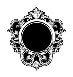 vintage luxury mirror frame baroque vector image